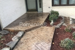 Ashlar Slate Bomanite using Bomanite Imprint Systems with Bomacron Textured Pattern Imprinted Concrete by Clark's Concrete Construction.