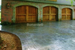 Private Residence Driveway using Bomanite Imprint Systems with Bomacron Textured Pattern Imprinted Concrete by Clark's Concrete Construction.