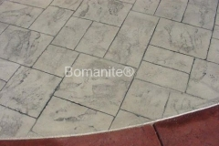 Whiteman Air Force Base After using Bomanite Imprint Systems with Bomacron Textured Pattern Imprinted Concrete by Clark's Concrete Construction. After
