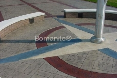 Whiteman Air Force Base After using Bomanite Imprint Systems with Bomacron Textured Pattern Imprinted Concrete by Clark's Concrete Construction.
