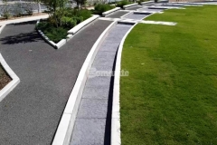 Our colleague Bomanite of Tulsa, Inc. utilized Bomanite Imprint Systems and the Bomacron Chipped Shale pattern to create a water feature and splash pad that emulate river rock, and these unique hardscape surfaces are a beautiful addition to the Owasso Redbud Festival Park.