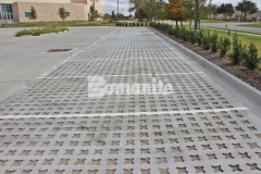 Bomanite Grasscrete was installed here by our partner, Texas Bomanite, to create a pervious concrete surface that will provide a decrease in the overall impervious percentage and allow for proper stormwater drainage.